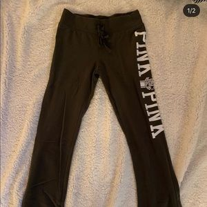 XS army green pink yoga pants